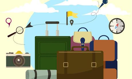 transit travel luggage